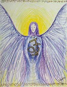"Angelic Script 8""x10"" Pencil"