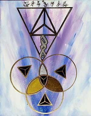 custom curative art with sacred geometry