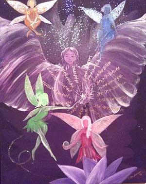 custom curative art with fairy energy